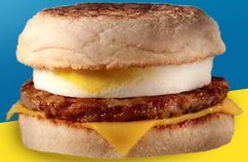 McDonald's Sausage McMuffin with Egg