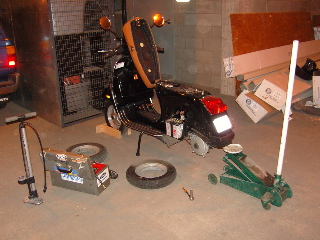 Changing the rear tire