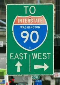 I-90 sign