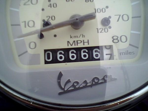 6666.6 (okay, 7) miles