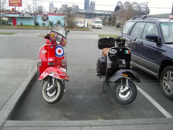 Vespas at Krispy Kreme