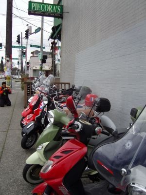 Scooters at Piecora's