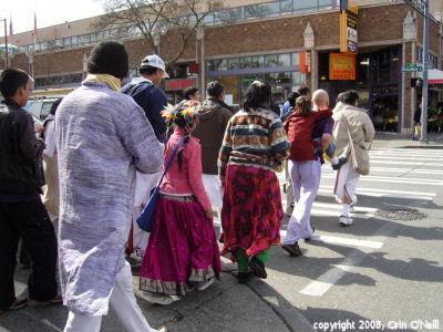 Krishnas marching onBroadway