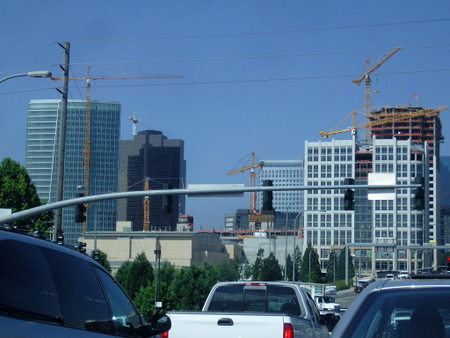 Downtown Bellevue, where the construction crane is the official bird
