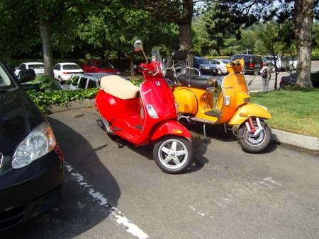 A pair of scooters in Bellevue