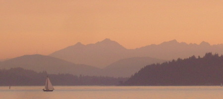Bainbridge, the Kitsap Peninsula and the Olympic Mountains