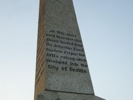 The Alki landing monument