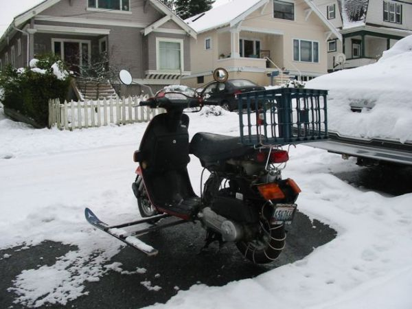 Todd Q's winter scooter