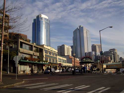 Downtown Seattle, as seen from the Pike Place Market
