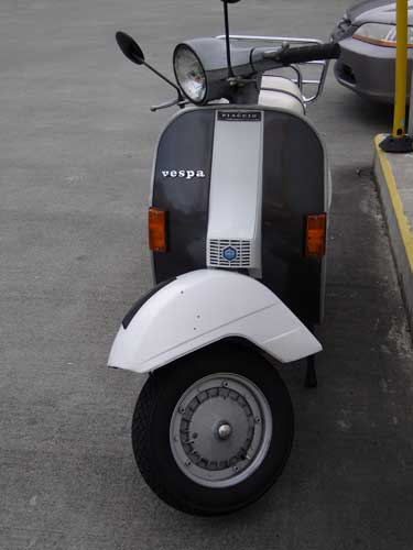 Scooter parked at Bartell Drugs
