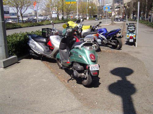 More 2-wheel parking