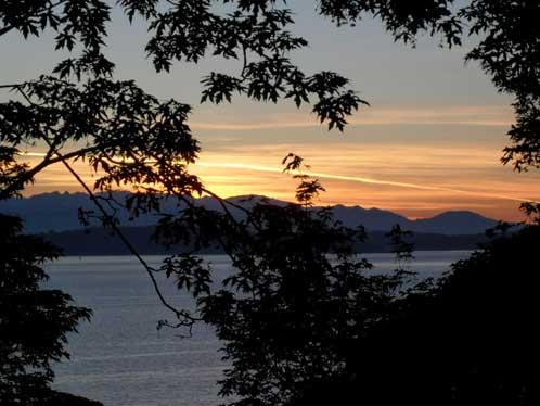 Sunset from Ridge Trail