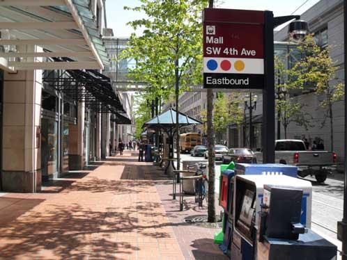 Yamhill Street, downtown Portland