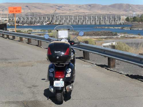 At the Dalles dam