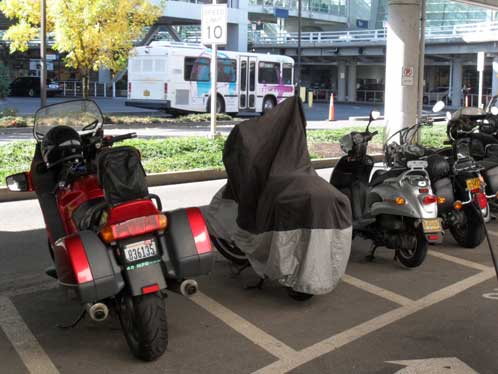 Long-term motorcycle parking