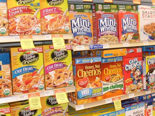 New Seasons Market cereal aisle