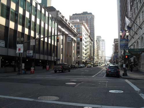 Broadway and Oak, downtown Portland