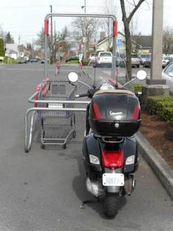 Scooter parking at Safeway