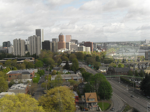 Downtown Portland, from the aerial tram