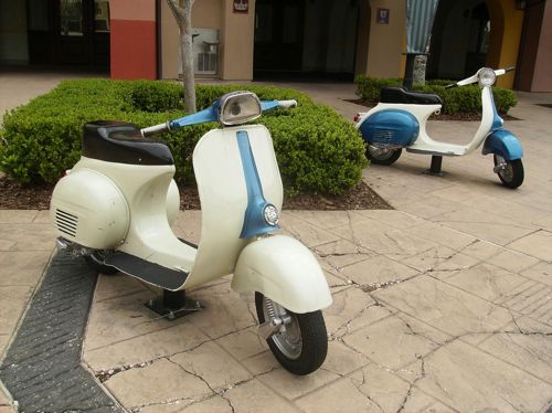 Vespas as furniture