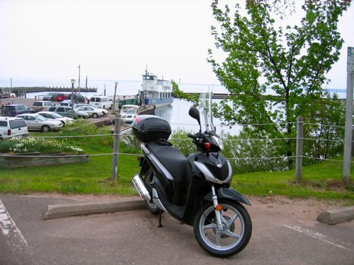 SH150i at the ferry
