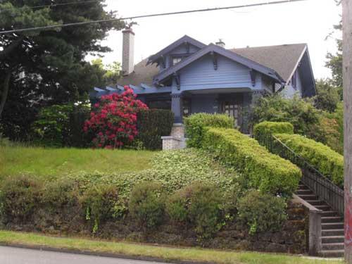 Blue house on Burnside