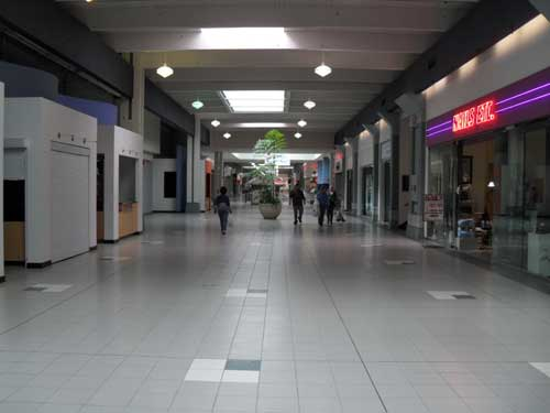 The mall's empty