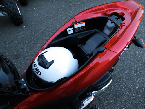 PCX underseat storage