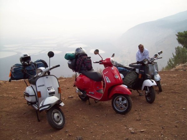 There are vintage and modern Vespas in Israel