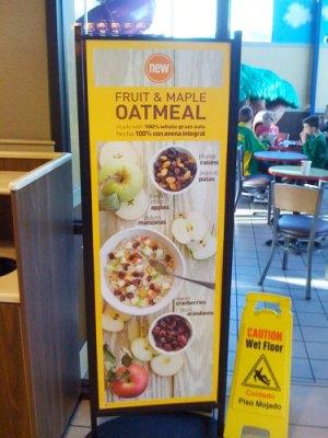 Oatmeal promo