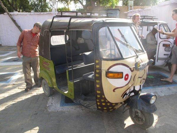 Team Ugly Americans autorickshaw