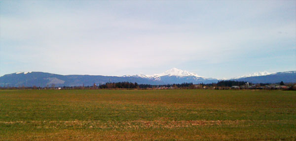 Mount Baker, in the distance