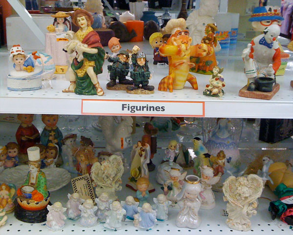 Value Village figurines