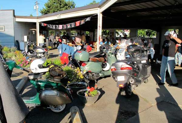Chuckanut Brewery scooter parking
