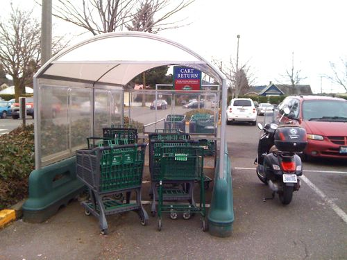 Scooter parking at Haggen