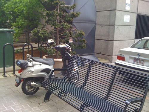 Courtyard parking
