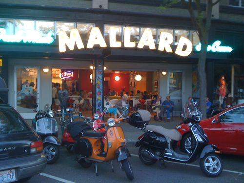 Parking at Mallard Ice Cream
