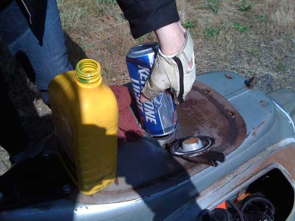 Emergency beer can