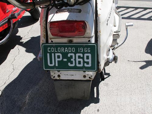 Vintage Colorado plate