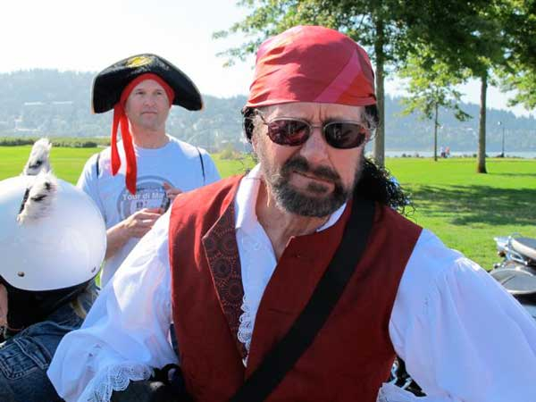Philip and Doc in pirate garb