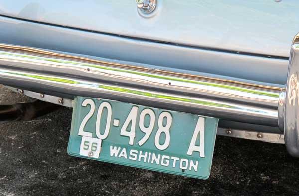 1956 Washington license plate