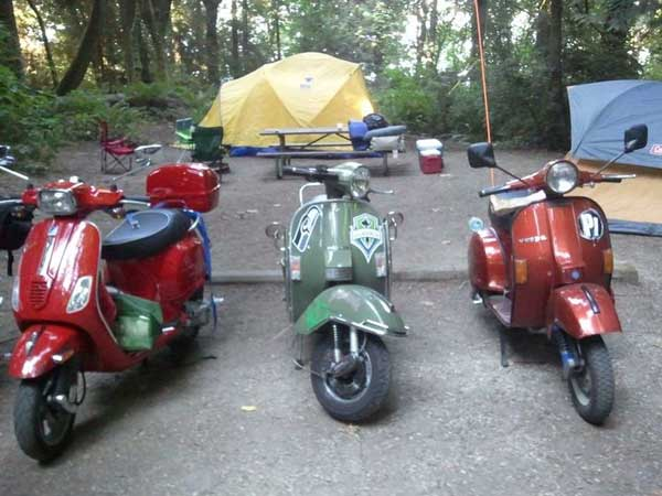 Scooter campsite