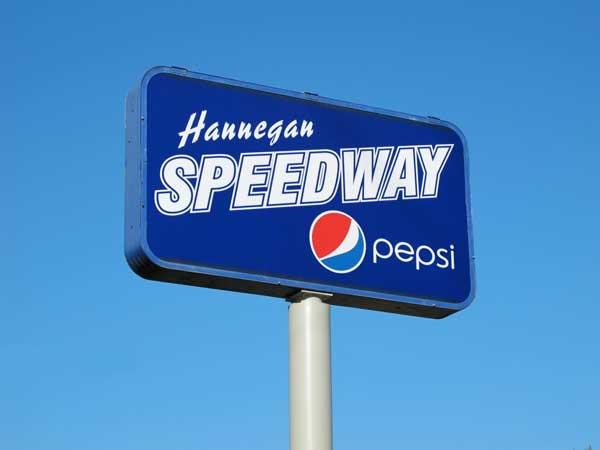 Hannegan Speedway sign