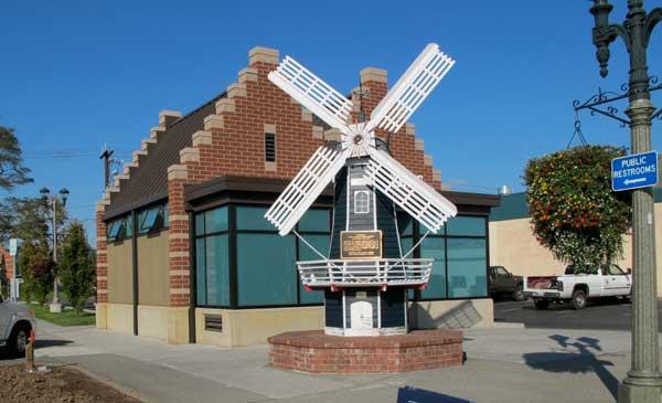 Public restroom windmill