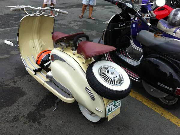 Lambretta, rear view
