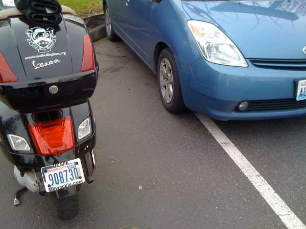 Mis-parked Prius