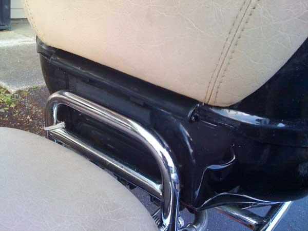 Clean seatback