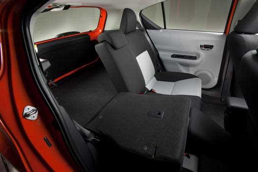 Prius c back seat