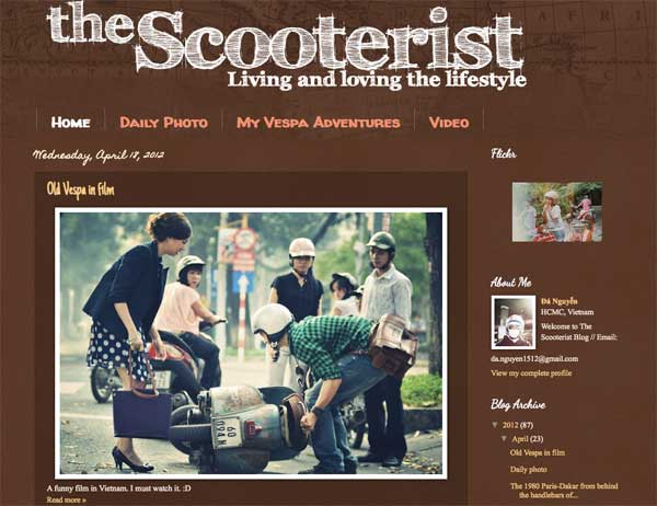 The Scooterist front page