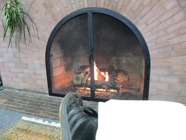 Fairhaven Library fireplace